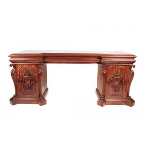 Quality William Iv Carved Mahogany Sideboard