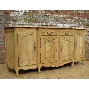 Vintage Bleached Oak Enfilade Sideboard
