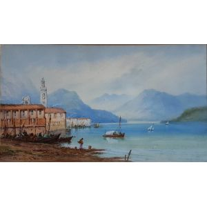 Watercolour Of Lake Como