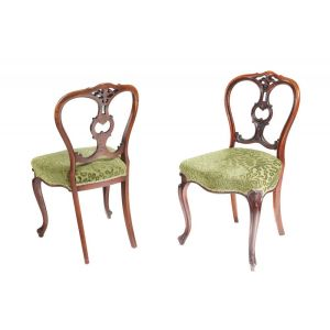 Fine Quality Pair Of Antique Victorian Walnut Si