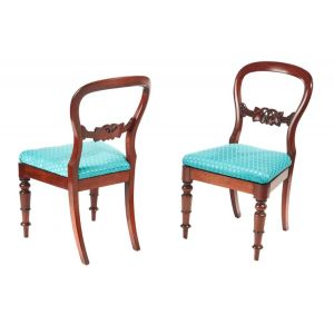 Pair Of Antique Victorian Mahogany Side Chairs