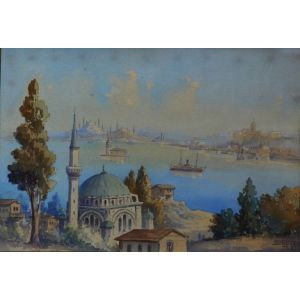 "Watercolour ""view Across The Bosphorus """