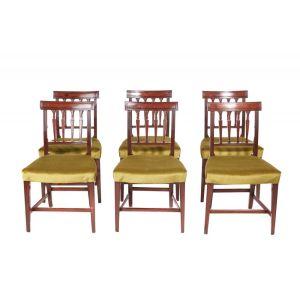Fine Set Of Six Georgian Mahogany Dining Chairs