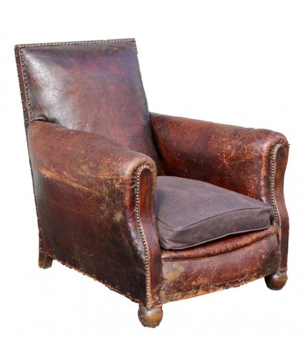 Superb Leather Club Chair