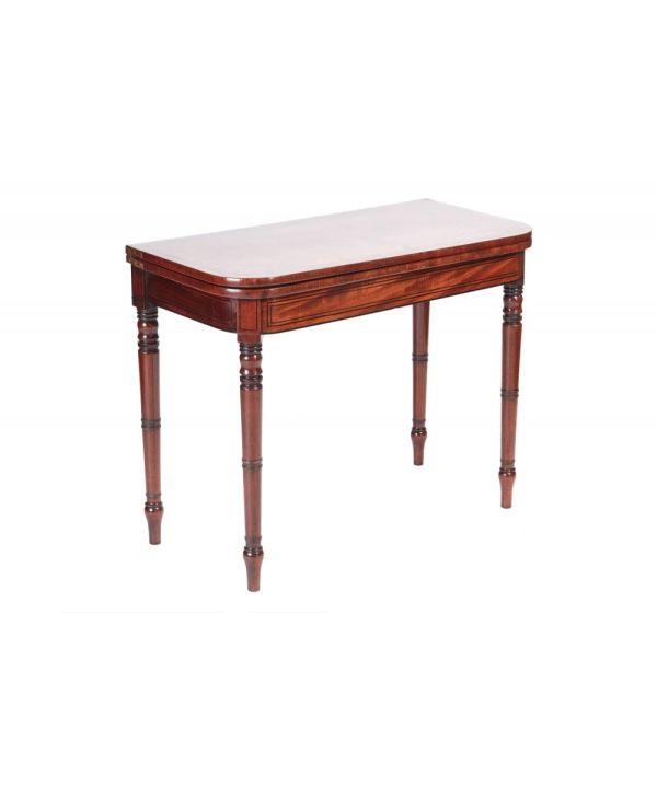 George Iii Mahogany Card Table