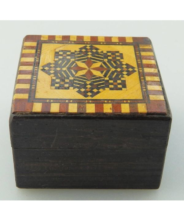 Rosewood Stamp Box