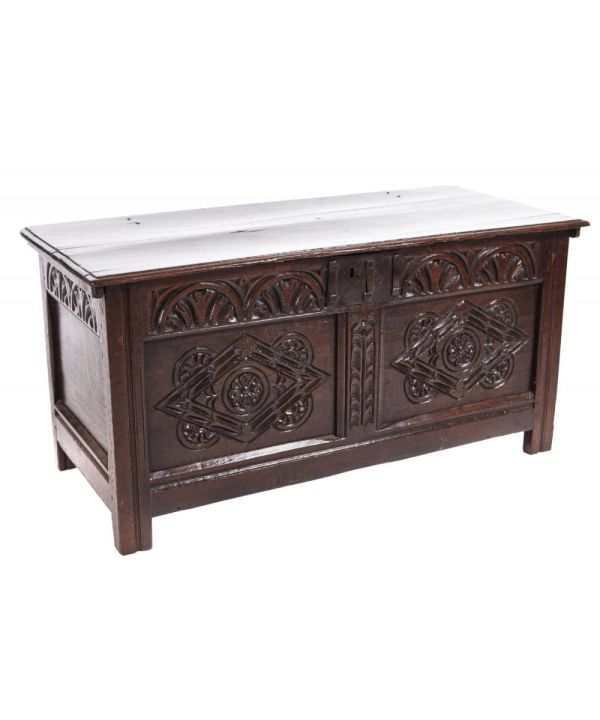 Antique Carved Coffer