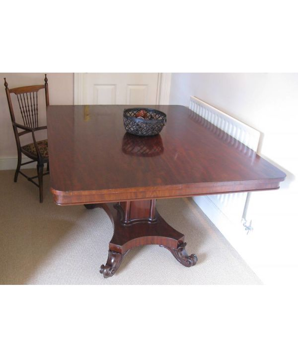 Antique Mahogany Tilt Top Breakfast Table