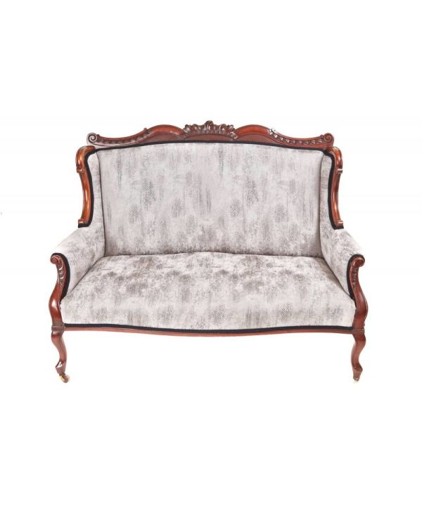 Antique Carved Settee