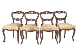 Fine Set Of 4 Rosewood Dining Chairs C.1850
