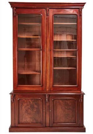 Large Quality Victorian Mahogany Bookcase