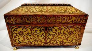 A Regency Brass Inlaid Work Box Circa 1820