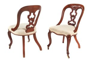 Good Quality Pair Of Victorian Mahogany Desk Chairs C.1860