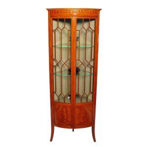 Fine Satinwood Corner Cabinet