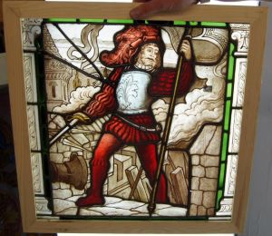 An Amazing Rare Early Painted Knight Window