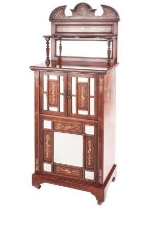 Fine Rosewood Inlaid Side Cabinet