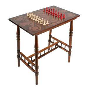 Victorian Poker Work Games Table