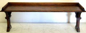 A Very Unusual Pollard Oak Victorian Window/sofa Table