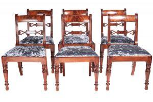 Fine Set Of Six Regency Mahogany Dining Chairs