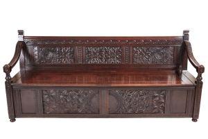 Fantastic Antique Large Carved Oak Settle