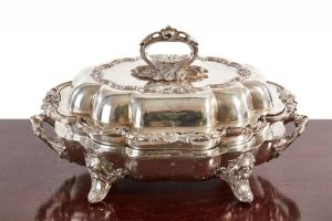Fine Antique Silver Plated Entree Dish C.1860