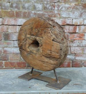 19c Decorative Wooden Cart Wheel