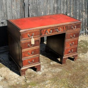 Reproduction Antique Twin Pedestal Writing Desk