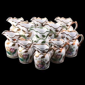 Collection Of 11 Livesley Powell & Co Ironstone Jugs