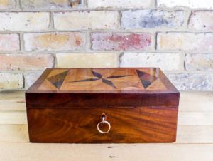 Flamed Mahogany Table Box C.1820