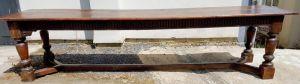 Very Long Period 'charles Ii'oak Refectory Table Circa 1680