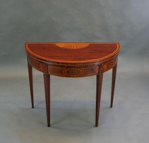Nineteenth Century Tea Table, Labelled