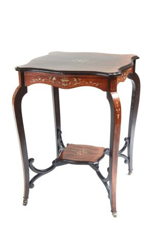 Quality Inlaid Rosewood Occasional Table C.1900