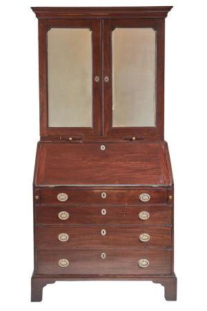 Georgian Mahogany Bureau Bookcase C.1780