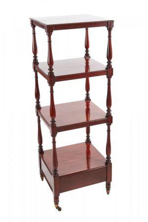 William Iv Mahogany Freestanding Four-tier Whatnot