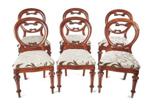 Superb Set Of 6 Balloon Back Dining Chairs