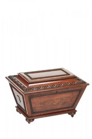 Fine William Iv Carved Mahogany Wine Cooler