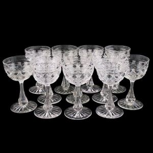 Eight Dessert Wine Glasses
