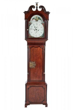 Fantastic Oak 8 Day Paint Face Moonphase Grandfather Clock