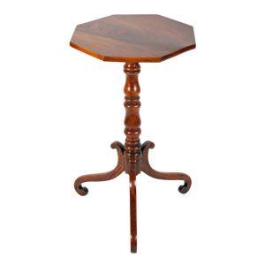 Antique Georgian Elm Wood Lamp Table