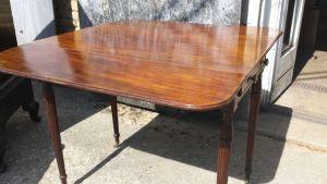 Georgian Mahogany Two Drawer Pembroke Table