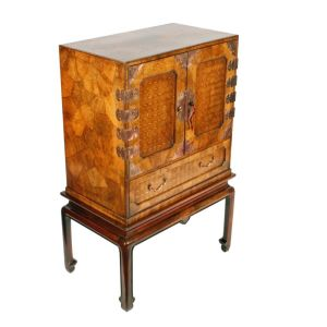 19th Century Japanese Yosegi-zaiku Cabinet