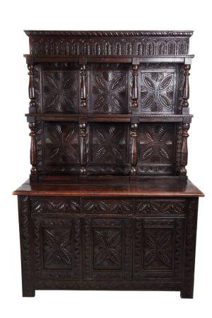 Large Antique Carved Oak Dresser C.1780