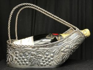 Rare French Art Nouveau Silver Plate Wine Champagne Ice Cooler Basket