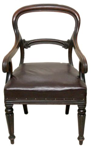 Victorian Antique Mahogany Desk Chair