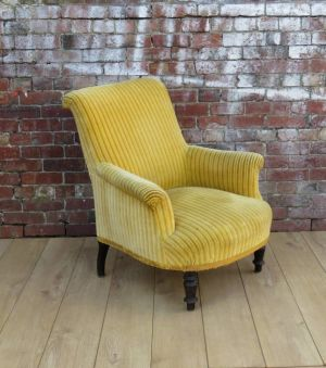 Antique French Armchair For Re-upholstey