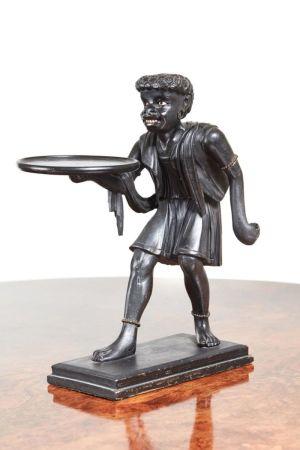 Unusual Antique Blackamoor Carved Figure 1870