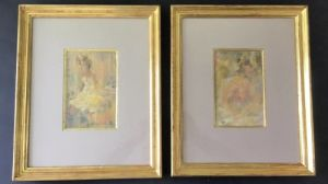 Walter Beauvais - Superb Pair Of Oils - 'the Girl' & 'the Embrace'