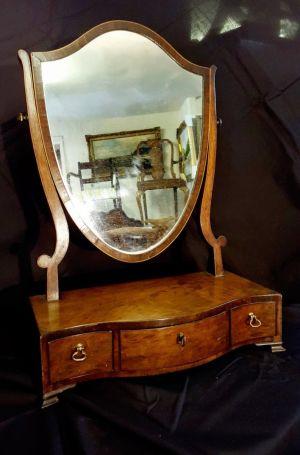 Elegant Cheval Antique Mahogany Mirror