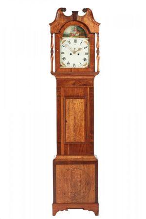 George Iii Oak And Mahogany 8 Day Long Case Clock