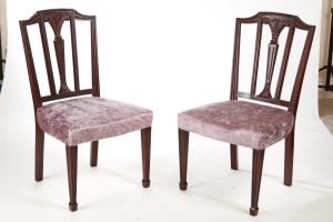 Pair Of Mahogany Hepplewhite Style Side Chairs C.1890
